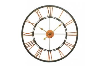 Large Metal Wall Clock with 'Skeletal' design