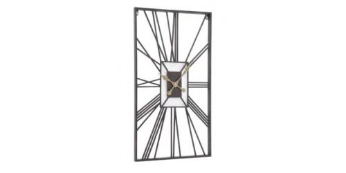 Rectangular Skeleton Wall Clock