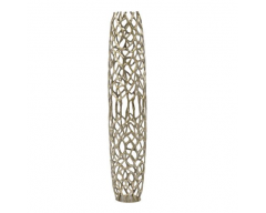 Gold Coral Cage Vase in Textured Aluminium - Large Size