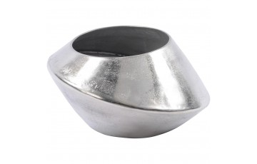 Silver Abstract Aluminium Vase Large