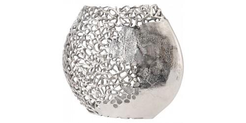 Silver Ellipse Aluminium Vase