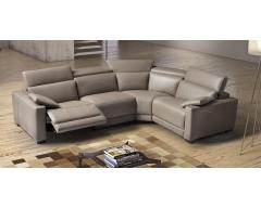 Eridano Italian Leather Corner Sofa