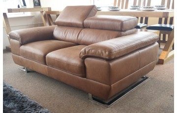 Italia 2 Seater Italian Leather Sofa