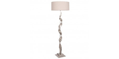 Aluminium Twist Sculpture Floor Lamp Complete