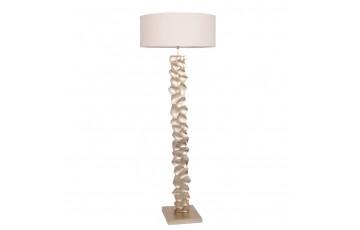 Aluminium Textured Stem Floor Lamp Complete