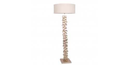 Aluminium Textured Stem Floor Lamp Complete