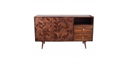 Taj Sheesham Wood Honeycomb Design Sideboard