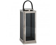 Large Stainless Steel Shiny Nickel Square Lantern