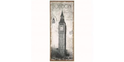 London Design Wall Canvas - Oblong