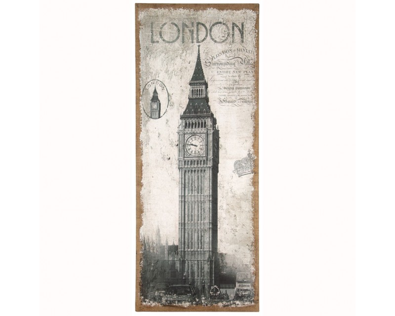 London Design Wall Canvas - Oblong