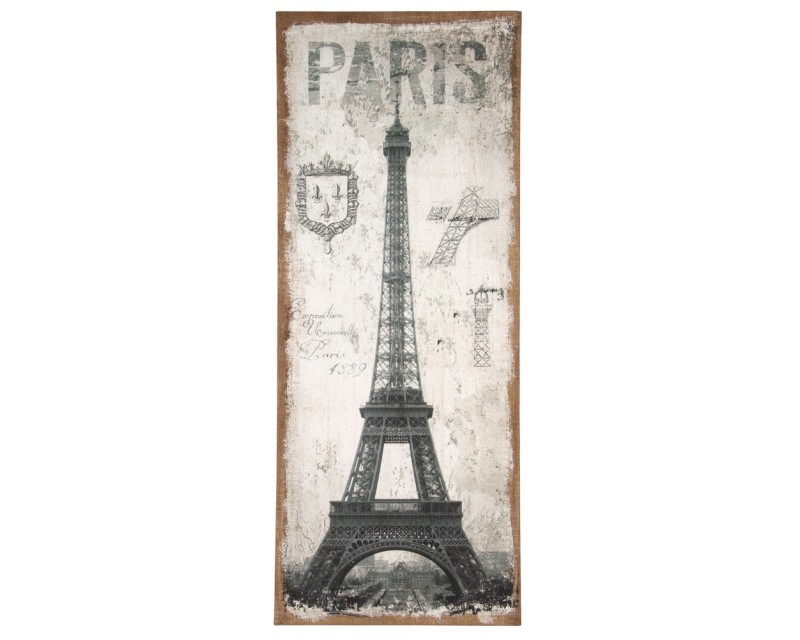 Paris Design Oblong Wall Canvas