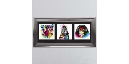 Animals Triptych Framed Wall Art 115x55cm