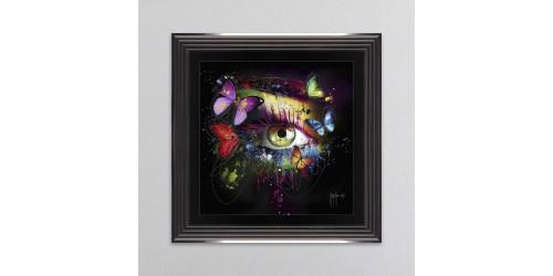 Butterfly Eye Framed Wall Art 55x55cm