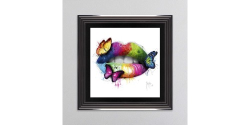 Butterfly Kiss Framed Wall Art 90x90cm