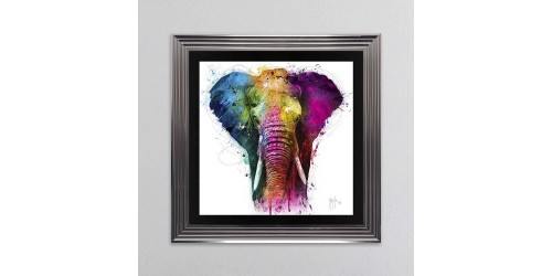 Africa Elephant Framed Wall Art 85x85cm