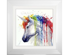 Unicorn Liquid Wall Art Picture 55cm x 55cm