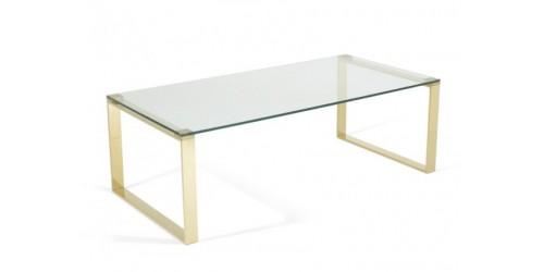 Kai Glass Coffee Table - Gold