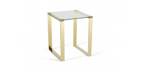 Kai Glass Lamp Table in Gold