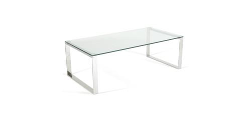 Kai Glass Coffee Table in Steel