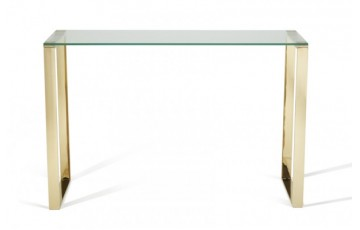 Kai Glass Console Table in Gold