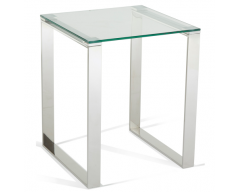 Kai Glass Lamp Table in Steel