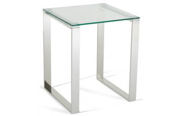 Kai Glass Lamp Table in Steel