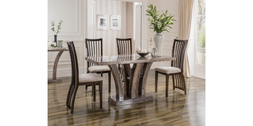 Aztec Marble Dining Set with 4 Chairs