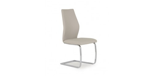 Eton Dining Chair in Taupe Faux Leather