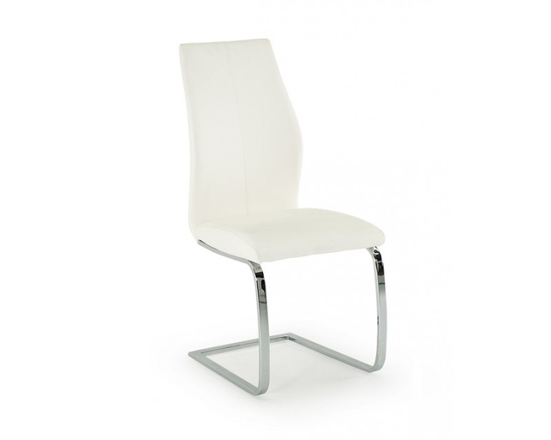 Eton Dining Chair in White Faux Leather