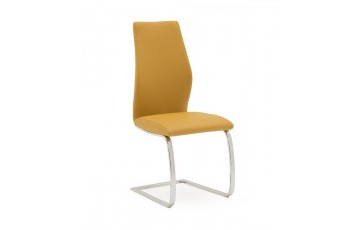 Eton Dining Chair in Pumpkin Faux Leather