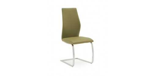 Eton Faux Leather Dining Chair in Olive