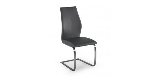 Issy Faux Leather Dining Chair in Grey