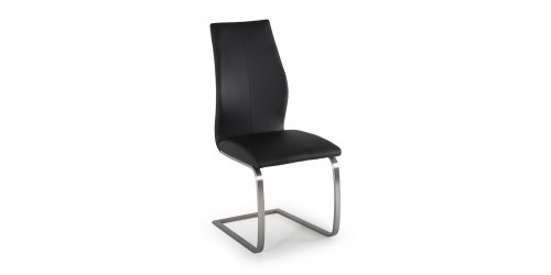 Issy Faux Leather Dining Chair in Black