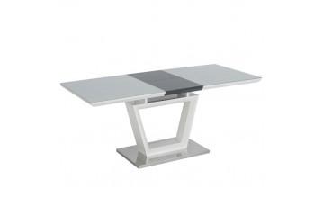 Ava Gloss White Extending Dining Table